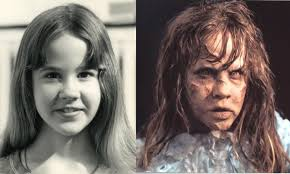 linda blair as regan before and after make up effects for the exorcist by