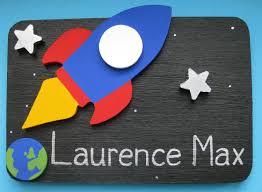 Space Themed Bedroom Personalised Rocket Space Theme Bedroom Door Plaque Theme