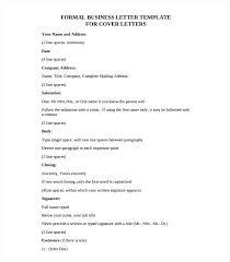 Sample Formal Business Letter Template Format Samples Of