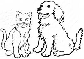 Cat And Dog Coloring Pages To Print At Getdrawingscom Free For
