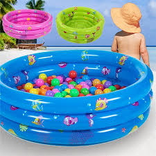 inflatable swimming pool for kids. Simple Pool Kiddie PoolInflatable 3 Ring Circles Swimming Pool Toddler Children Kids  Outdoor Play In Inflatable For L