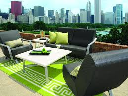 ideas patio furniture cushions with two green pillows and square white table full size