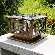 Lighted Garden Ornament Crackle Glass Globe Solar Stake LightGarden Lights Led Solar