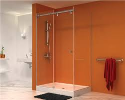 semi frameless shower door replacement parts