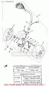 yamaha dt usa c d i magneto schematic partsfiche c d i magneto schematic