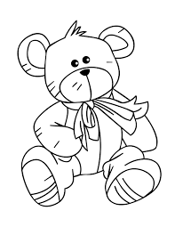 Teddy Bear Colour In Colouring In