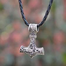us mens nordic viking mjolnir pendant leather chain myth thors hammer necklace