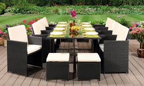 grey 13pc cube set rattan outdoor