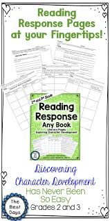 help your students better understand character development with these amazing reading response literacy pages the pages closely examine character s as they