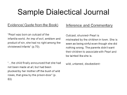 Dialectical Journal And Character Analysis What Is A Dialectical ...