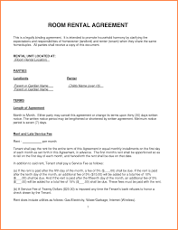 Sample Room For Rent Contract Rental Lease Template Fingradiotk 3