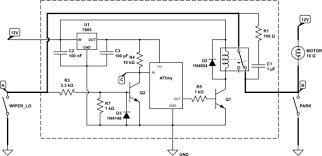 automotive relay for intermittent wiper function electrical schematic