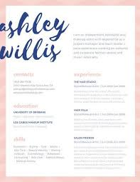 Pink Blue Script Creative Makeup Artist Resume Resumes And Job Classy Artist Resumes
