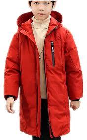 mileeo boy s coat children s coat down hooded windproof jacket winter kids warm junior sizes outwear