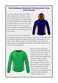 Design Your Own School Sweatshirt The Numerous Benefits To Designing Your Own Hoodie By Custom
