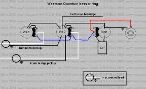 wiringquantum jpg this wiring diagram is taken from a 1984 quantum bass the pots are all 250k log audio the tone capacitor is 0 047 microfarad mylar