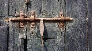lock door old door entry old house wooden door
