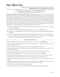 Resume For Analyst Job Template Sample Financial Analysis Report Template Resume 74