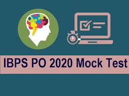 ibps po 2020 mock test free pdf