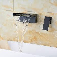 resica single handle wall mounted oil rubbed bronze waterfall regarding mount design 8