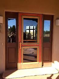 wooden storm doors with glass custom storm screen door wood storm door with glass panels