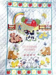 Rare Barb Sestok Farm Babies Crib Quilt Stamped CrossStitch Kit &  Adamdwight.com