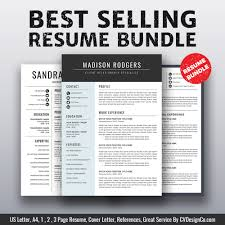 Ms Office Cover Letter Template 2019 Best Selling Ms Office Word Resume Cv Bundle The Madison