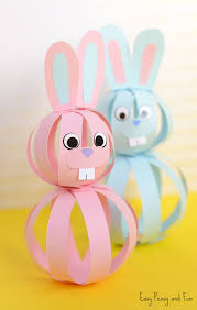 easy paper bunny craft easter idea for kids