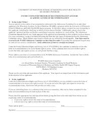 Best Ideas Of Writing A Recommendation Letter For Medical School