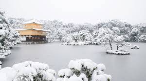 Japan Temple Lake Snow Wallpapers Hd Desktop And Mobile