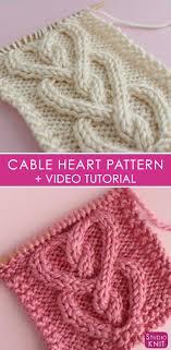 Cable Heart Stitch Knitting Pattern Studio Knit