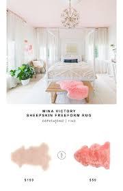 mina victory sheepskin freeform rug for 199 vs lambland pink sheepskin rug for 59 copy cat