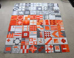 More Tula Pink City Sampler quilt blocks done. All oranges and ... & More Tula Pink City Sampler quilt blocks done. All oranges and greys. Adamdwight.com