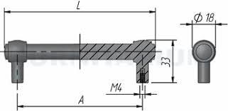 <b>Ручка</b>-<b>рейлинг</b> 128мм серебро состаренное, RE2331/128 ...