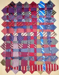 Quilt Inspiration: The Tie Quilt, by Renay Martin & We were charmed by the clever and artistic way in which Renay wove the blue  and red ties together to create the quilt, which was made in memory of a ... Adamdwight.com