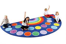 large semi circle classroom rug