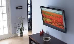 low profile tilting flat screen tv wall