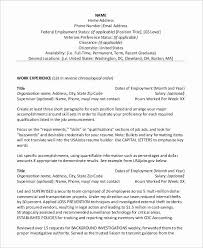 The resume format 2017 will be your guide in writing so that you cannot. Federal Job Resume Template Lovely Sample Examples In Word Pdf Samples Household Federal Resume Template 2020 Resume Resume Builder For College Students Sketch Resume Template Another Word For Server On Resume Career