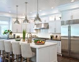 modern kitchen pendant lighting ideas. Chrome Finished Pendant Lighting Ideas For Contemporary Kitchen Design With Marble Countertop Modern E
