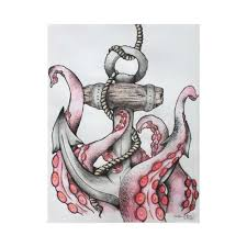 Small Picture Group of octopus and anchor drawing Google Search We Heart It