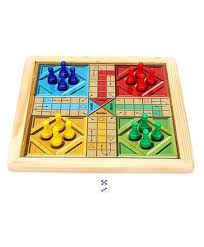 Wooden Ludo Board Game Ratnas Wooden Art Chess And Ludo Online India Buy Board Games for 6