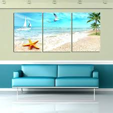 wall art beach 3 panel large beach canvas seascapes palm tree paintings 3 piece wall art wall art beach