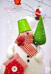 Снеговики на новый год тильды