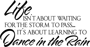 Inspirational Dance Quotes Simple Inspirational Wall Quotes Vinyl Wall Decals Dance in the Rain