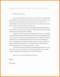 Sample Cover Letter For Fashion Internship Interior Designer Cover Letter Effortless Quintessence