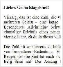Böse Sprüche Zum 40 Geburtstag Poolvogel