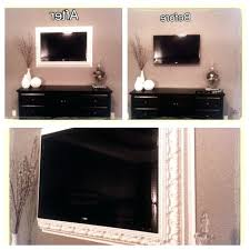 how to frame a flat screen with crown molding frames tv kit