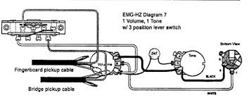 emg hz 7 string pickup wiring electronics chat projectguitar com one thing i dont understand is what to do the black and white wires coming from the pickups which are ered together the diagram shows them just