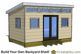 Shed office plans Building 10x16 Modern Shed Office Icreatables Modern Shed Plans Modern Diy Office Studio Shed Designs