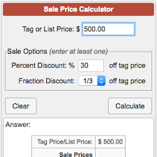 Shopping List Price Calculator Sale Price Calculator